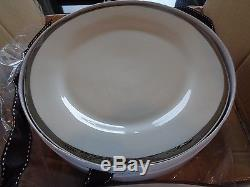 Pottery Barn Caroline dinner plates silver set of 8 New in Box