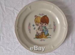 Precious Moments Dinner Snack Plates The Enesco Collection Set Of 13
