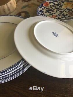 RALPH LAUREN Mandarin Blue Dinner Plates SET OF 8 new with tags