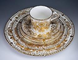 ROYAL CROWN DERBY Brocade A. 1286 Place Setting 6PC Dinner Salad Bread Plate