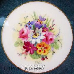 ROYAL WORCESTER china Z874 WILLIAM HALE Set 11 Service or DINNER PLATES 10-3/8