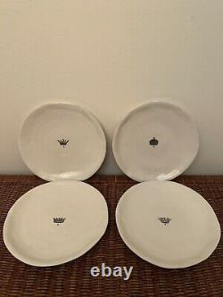 Rae Dunn Magenta Boutique CROWN Dinner Plates RETIRED (Set of 4)