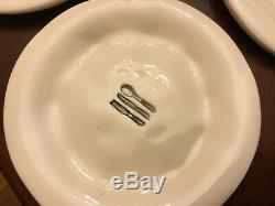 Rae Dunn Vintage Magenta Celebrate Utensils Dimpled Plates Set Of 6