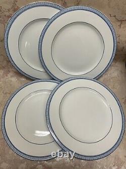 Ralph Lauren MACAO White & Blue Porcelain Dinner Plates Set of 4 New