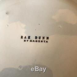 Rare Rae Dunn Magenta Vintage Celebrate Cake Plates Set Of Four