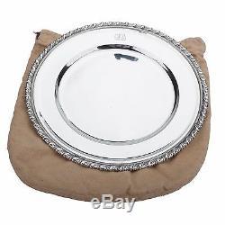Rare Set of 12 Tiffany & Co. Sterling Silver Service / Dinner Plates Mono HEAVY