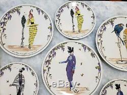 Rare Villeroy Boch Luxembourg Design 1900 Dinner Plate & Salad Plate Set Lot 12