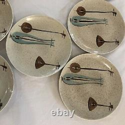 Red Wing Pottery Mid Century Lute Song 10 1/4 Dinner Plate (Set Of 10)