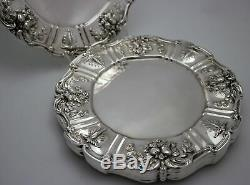 Reed & Barton Francis 1 Sterling Silver Dinner Plates 10 3/4w Set of 8