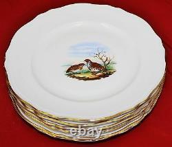 Richard Ginori Game Bird Dinner Plates Set of 6 MINT