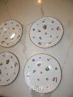 Richard Ginori Perugia Dinner Plate Gold Rim Set Of Six (6)