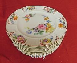 Rosenthal Set of 12 Floral Dinner Plates pattern R655 MINT