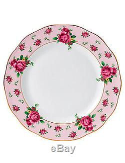 Royal Albert New Country Roses Pink Dinner Plates, Set of 4