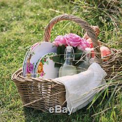 Royal Albert Old Country Roses Picnic Melamine SET 12pc Dinner Side Plates Bowls