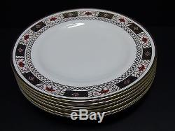 Royal Crown Derby DERBY BORDER Dinner Plates / Set of 6