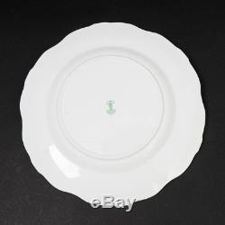 Royal Crown Derby Regency Bone China Set of 12 Dinner Plates 10-1/8 Gold Trim