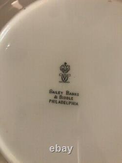 Royal Crown Derby Set of 14-24 Karat Gold Paste Dinner Plates Rare Butterfly
