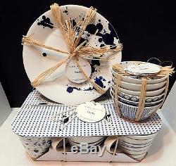 Royal Doulton PACIFIC Accent Set 6ea Dinner Plates Bowls Mugs, 18 pieces NEW