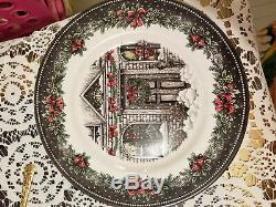 Royal Stafford Christmas Plates, set of four, Made in Burslem, England
