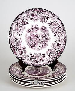 Royal Staffordshire Tonquin Plum Dinner Plates, Set of (6), Multiple Sets