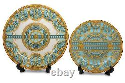 Royalty Porcelain 16-pc Dinner Set, Monarch's Crown, Bone China Porcelain