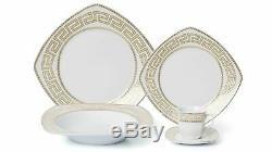 Royalty Porcelain 20-pc 5530G-20 Dinner Set for 4, 24K Gold