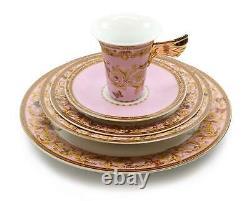 Royalty Porcelain Vintage Pink 49-pc Dinnerware Set'Ladybug