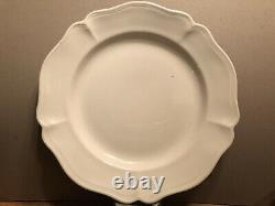 SET (5) RED-CLIFF Ironstone White Heirloom 11 DINNER PLATES
