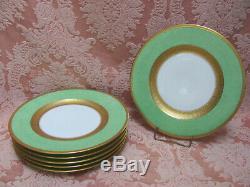 SET-6 Antique Royal Bavarian Hutschenreuther Selb GOLD ENCRUSTED Dinner Plates
