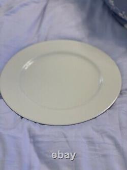 SET OF 17 APILCO France TUILERIES Porcelain Dinner Plates 11 3/4 ALL WHITE