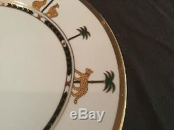 Set Of 3 Dinner Plates By Christian Dior In The Casablanca Pattern Gold Rimmed