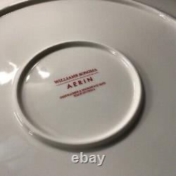 SET OF 6 Williams Sonoma NEW AERIN Scalloped Dinner Chargers Plates Red NWOT
