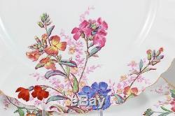 Set(s) 4 Vintage Spode China Chelsea Garden R9781 Dinner Plates Pink Blue Floral