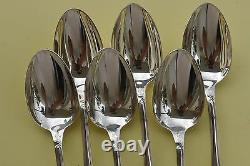 SET of 6 Christofle MARLY Silver-plate Table Dinner SPOONS FRANCE VGC 8 1/8