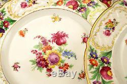 Stunning Fine 12 Pc Set Floral Schumann Bavaria Dresden Dinner Plates 11d