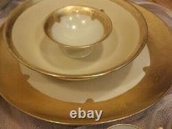 Selb Hutschenreuther and R&S 122 pcs Rare Encrusted Raised Gold Border china set