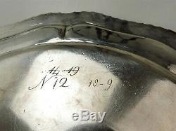 Sensational SET 6 GEORGIAN SILVER 25cm DINNER PLATES, London 1789 crested, 3270g