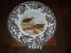 Set 10 Spode Woodland Dinner Plates Birds 10 5/8 Pheasant Quail Lapwing Snipe +