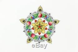 Set 11 Dinner Plates Royal Worcester Bone China Z79/5 Raised Enamel Hand Painted