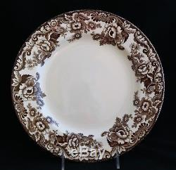 Set 12 Spode Made In England Delamere Brown S3723 Dinner Plates