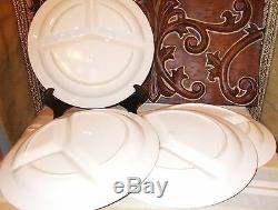 Set (4) Antique Fred Roberts Made in Japan Divided Western Dinner Plates