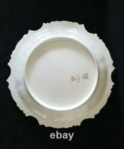 Set 4 Limoges Plates TV Limoges China Dinner Plates Hand Painted Violets 1800's