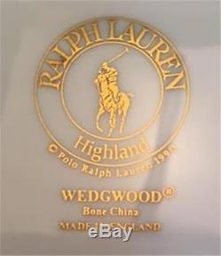 Set/4 Wedgwood RALPH LAUREN POLO TARTAN PLAID HIGHLAND PLATES 2Dinner, 2Salad