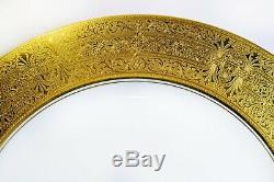 Set 5 Royal Bavarian Hutschenreuther Selb Bavaria 10 3/4 Gold Band Dinner Plate