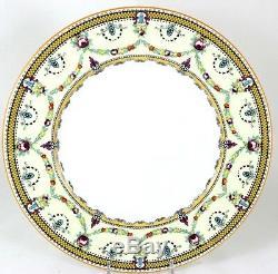 Set 6 Hand Painted Dinner Plates Antique Royal Cauldon England Bone China V6684