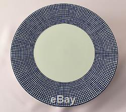 Set 7 Vtg Retro Japan SWID POWELL 11 Dinner Plates Graph Blue EXC