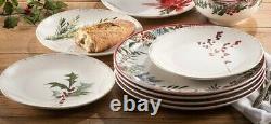 Set Dinnerware 16 Pcs Dishes Dinner Plate Bowl Mug Vintage Christmas Holiday New