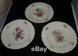 Set Of 10 Royal Copenhagen Fine China Frijsenborg Pattern Dinner Plates 10 In