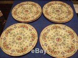 Set Of 10 Vintage Royal Worcester Porcelain Dinner Plates