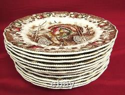 Set Of 12 Johnson Bros His Majesty Turkey Dinner Plates 10.75